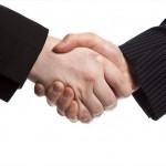 Hands shaking hands