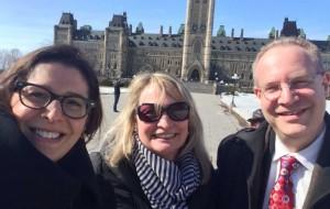 Dr. Yvonne Bombard, Bev Heim-Myers, Dr. Ronald Cohn