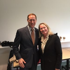 Minister of Justice, Peter MacKay & Bev Heim-Myers, CEO of Huntington Society of Canada
