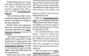 Fundraiser sheds light on Huntington disease locally