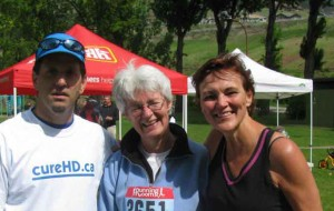 Dan Middleton, Laurie Williams, Ellie Smith at 2011 Vernon Run