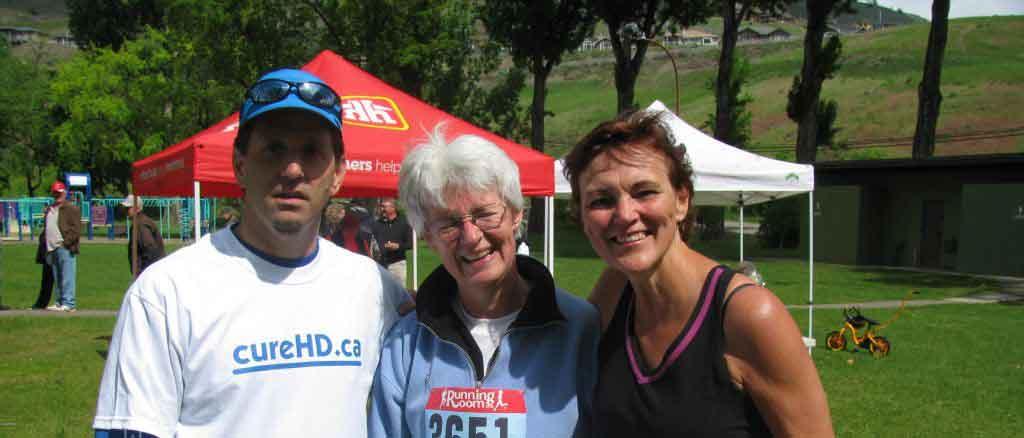 Dan Middleton, Laurie Williams, Ellie Smith at 2011 Vernon Run