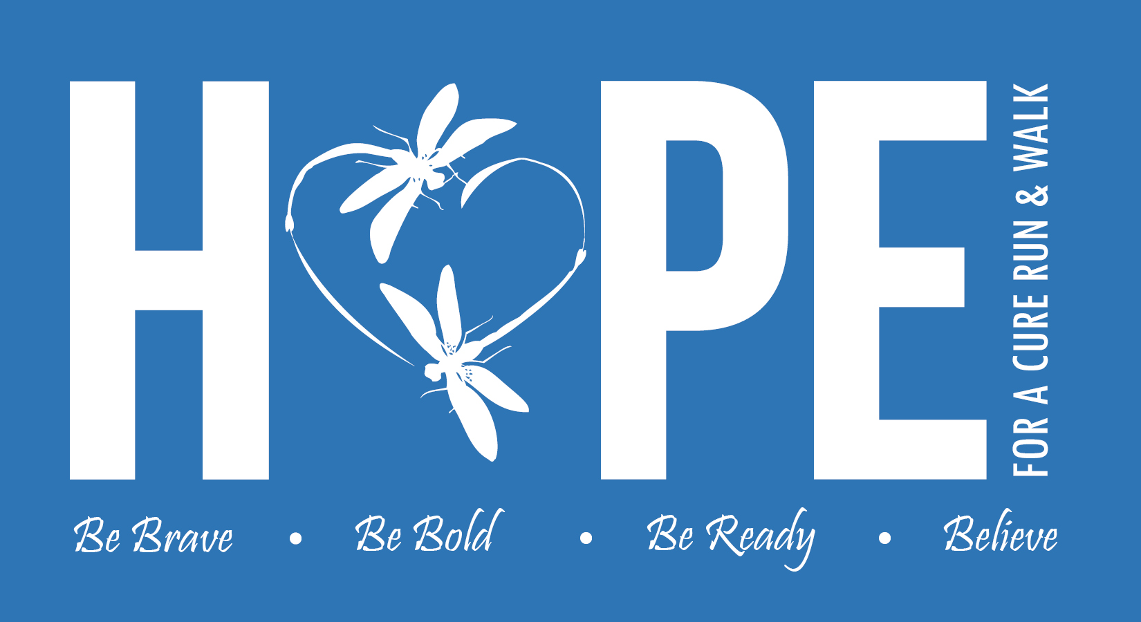 Hope for a Cure Logo with dragonflies